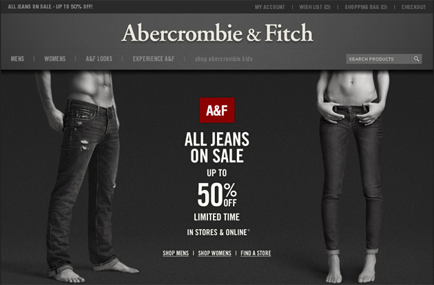 Albercrombie & Fitch online Store