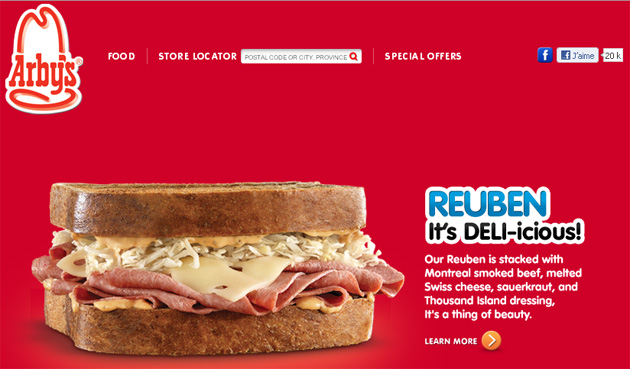 Arby's Canada online