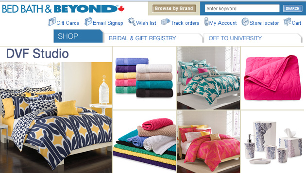 Bed Bath & Beyond online store