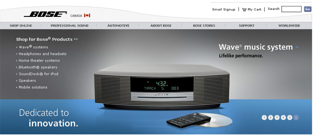 Bose Canada online store