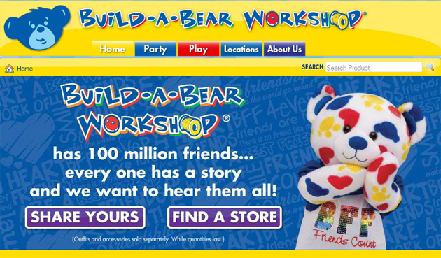 Build-A-Bear Workshop online