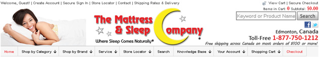 The Mattress & Sleep Company online store