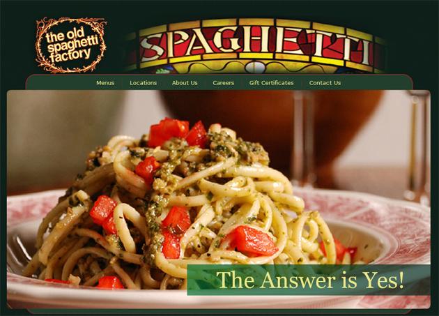 Coupon spaghetti factory