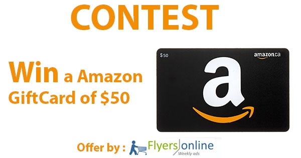 Win a Amazon GiftCard of $50