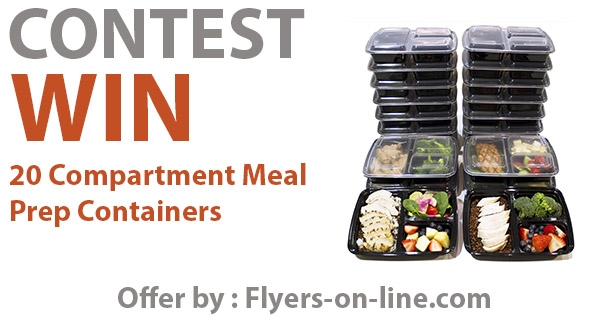 Win 20 Compartment Meal  Prep Containers