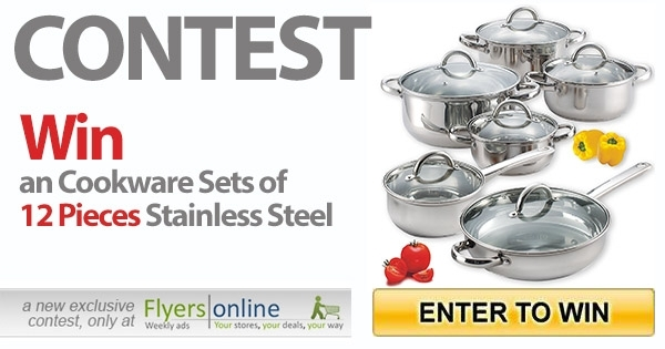 Win an Cookware Sets of 12 Pieces Stainless Steel