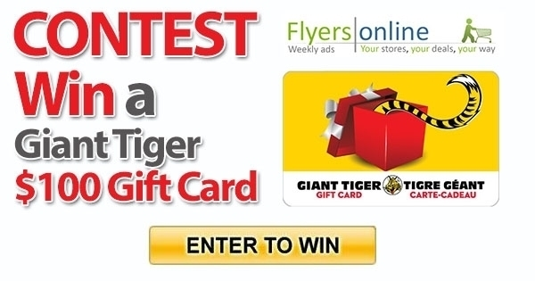 Contest Win a Giant Tiger $100 Gift Card