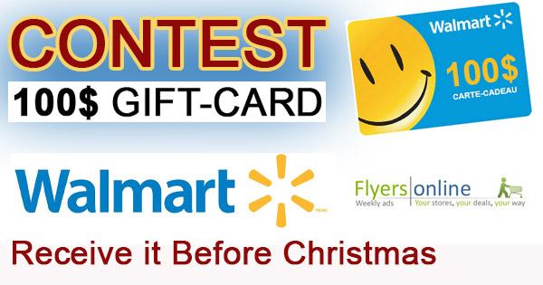 100$ Walmart Gift Card Contest