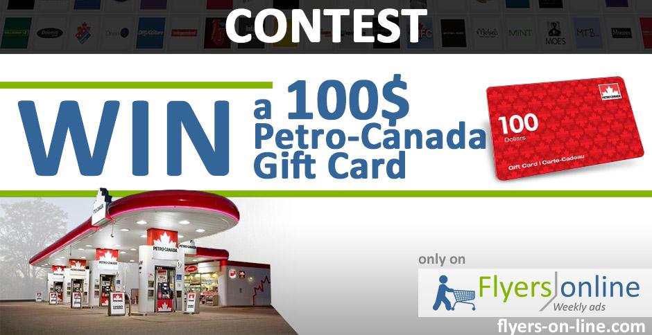 Petro Canada 100$ Gift Card Contest