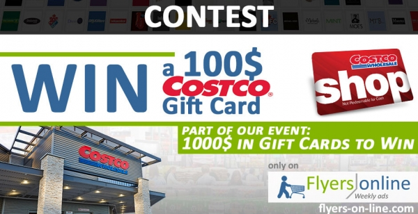 Costco Contest 1000$ in Gift Cards to Win