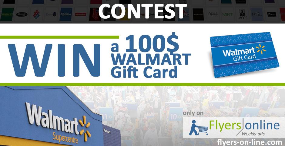 Walmart 100$ Gift Card Contest