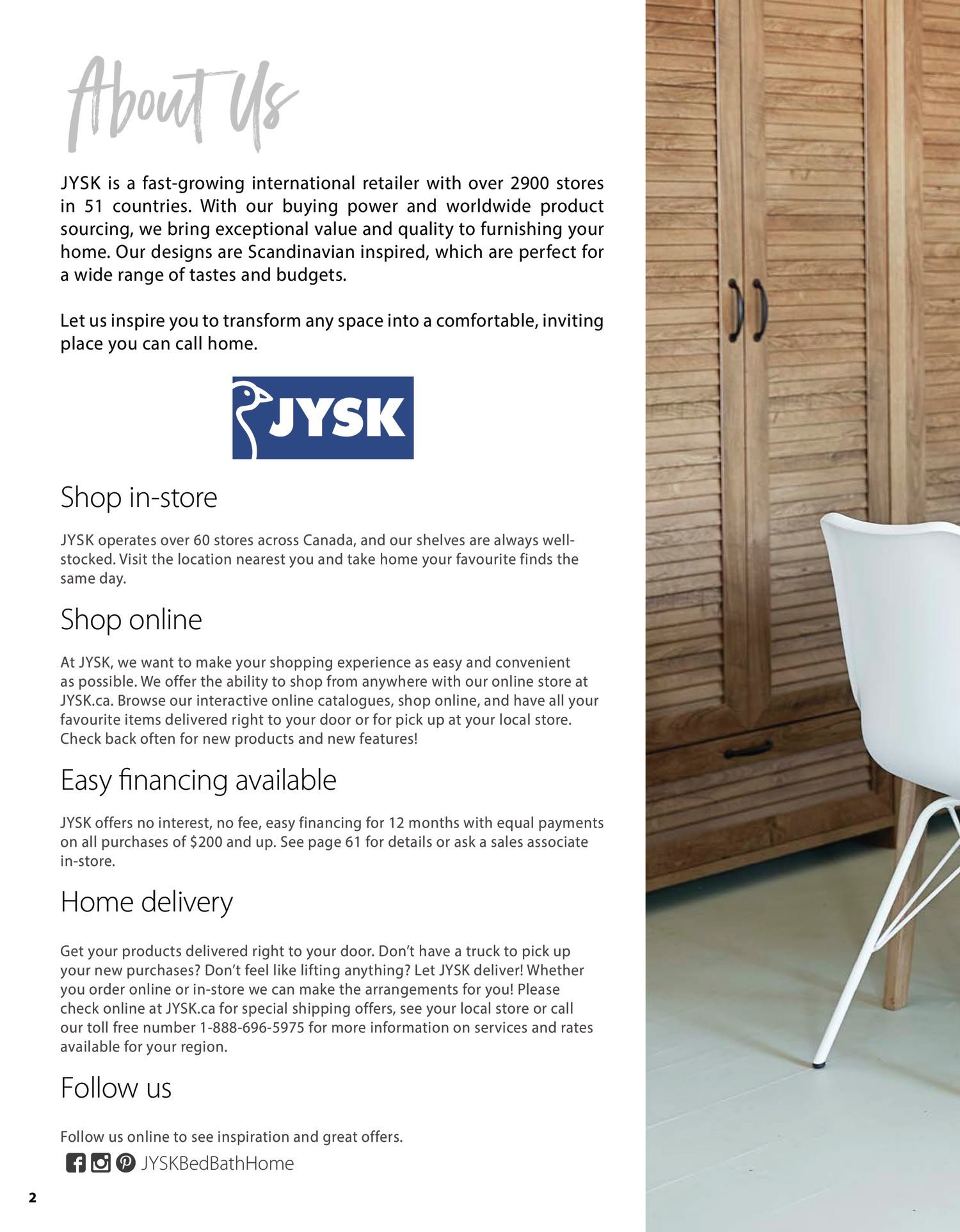 Jysk - Furniture Catalogue - Be Inspired - Page 2