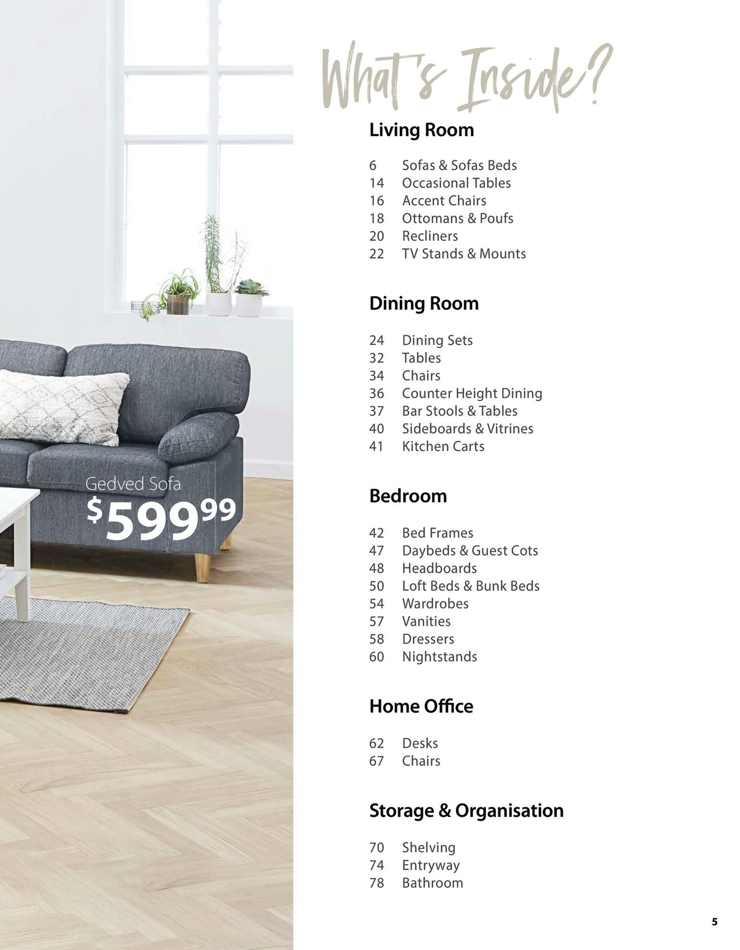 Jysk - Furniture Catalogue - Be Inspired - Page 5
