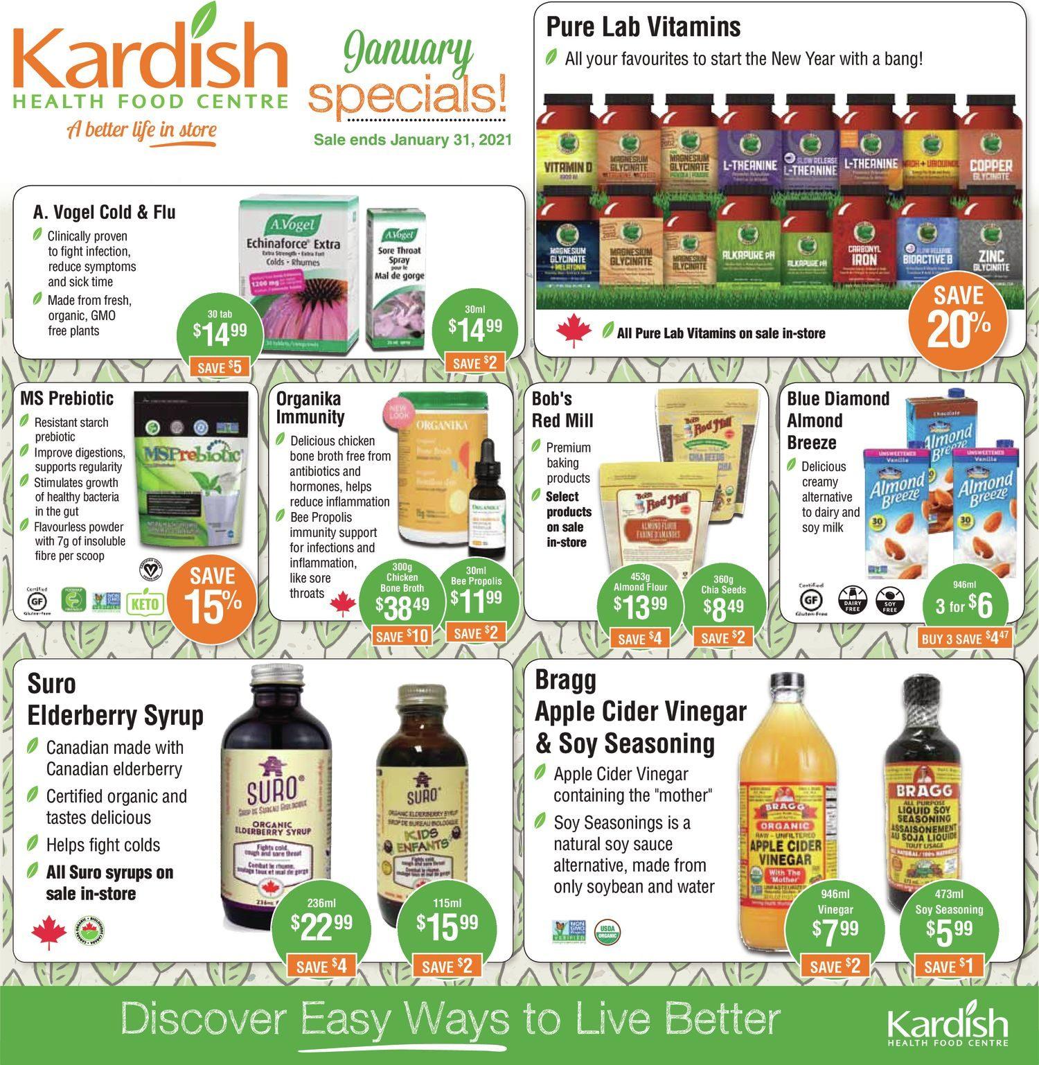 Kardish - January Specials!