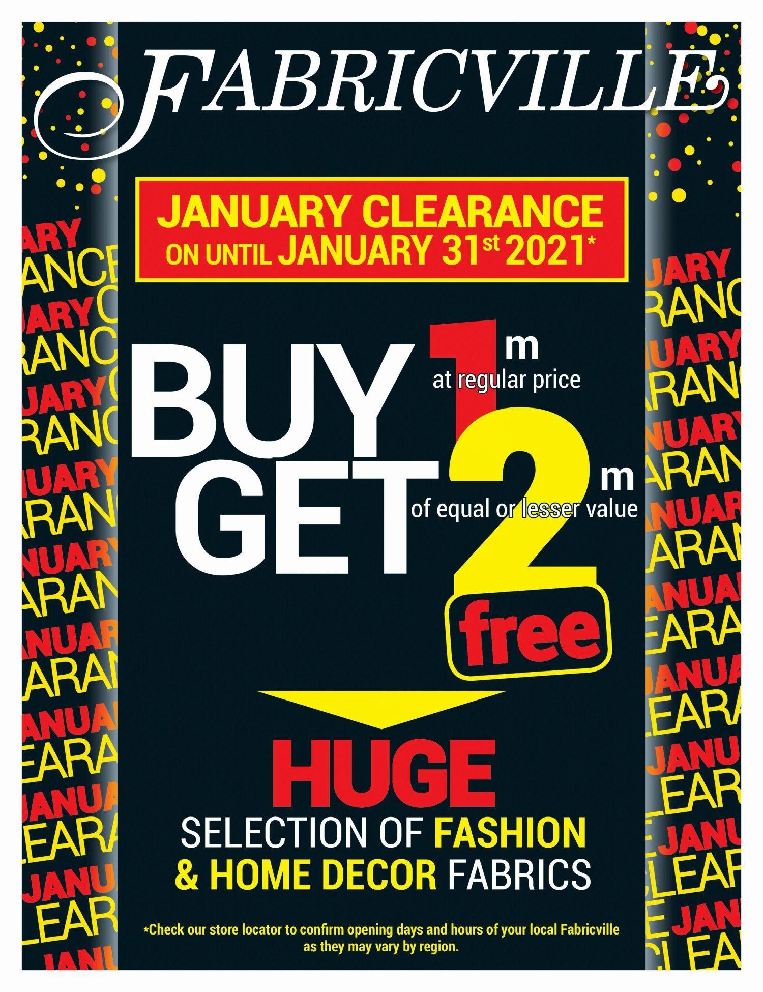 Fabricville - January Clearance Sale