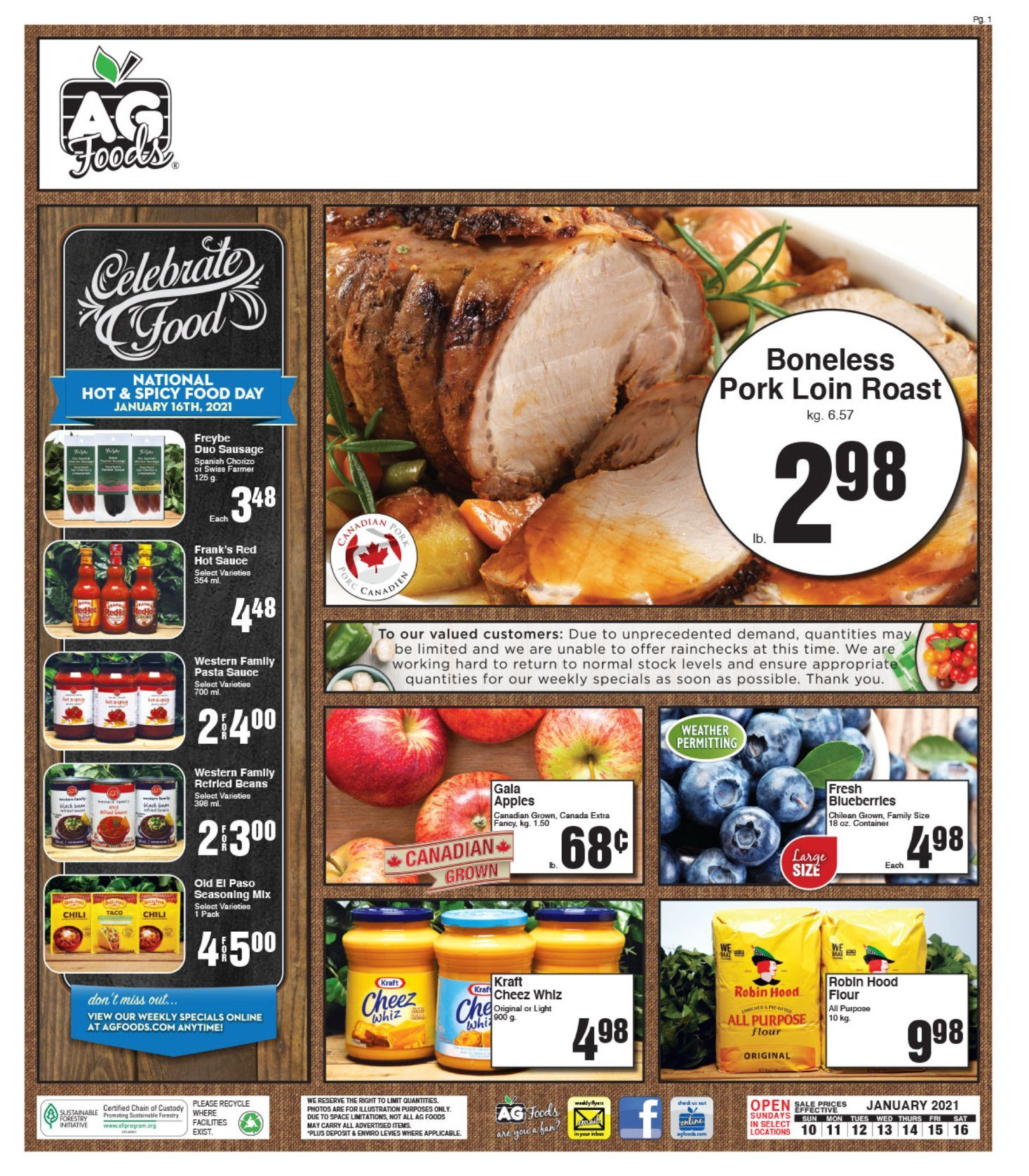 AG Foods - Weekly Flyer Specials