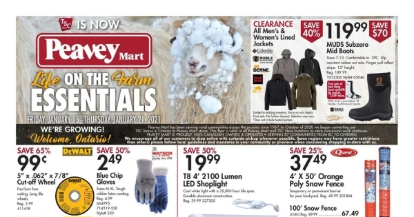 Peavey Mart current Flyer online