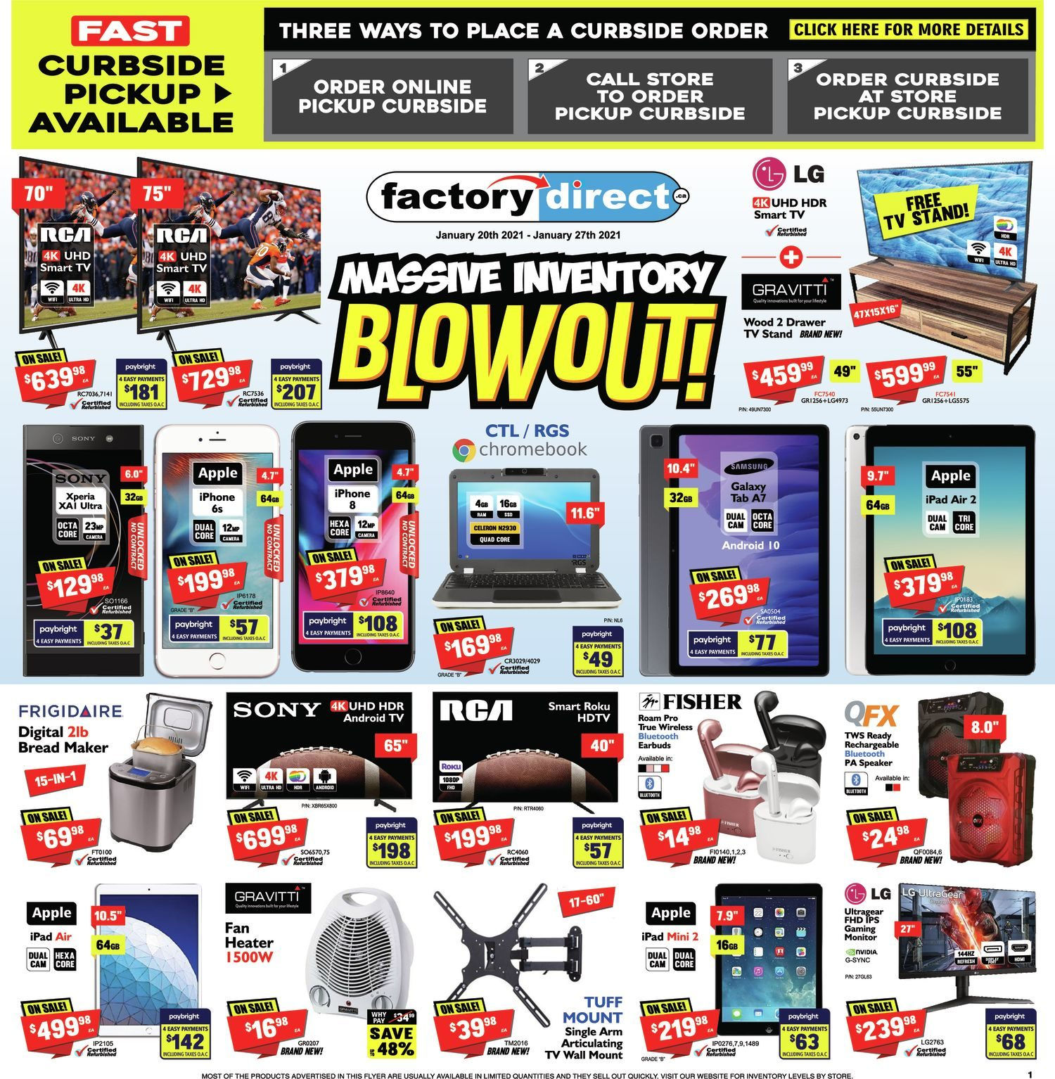 FactoryDirect - Massive Inventory Blowout!