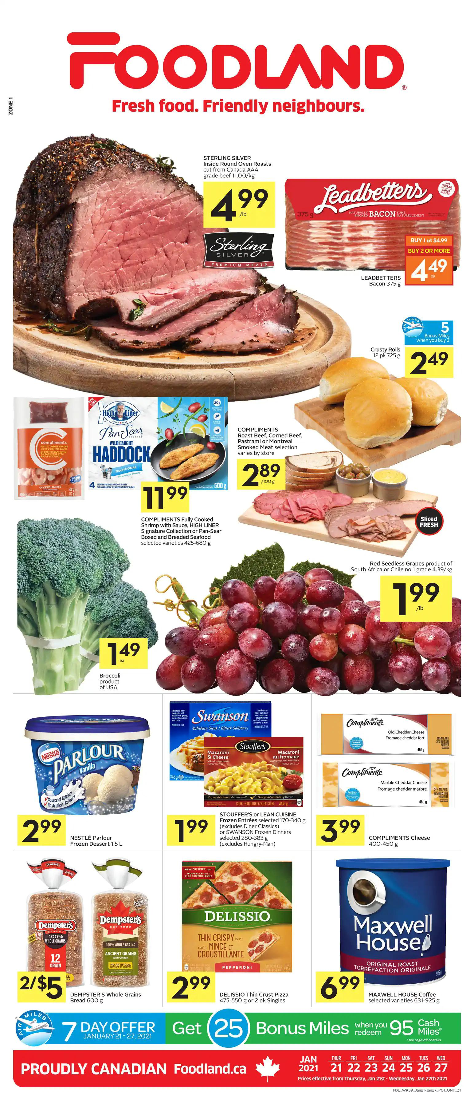 Foodland Flyer from january 21 to 27 2021
