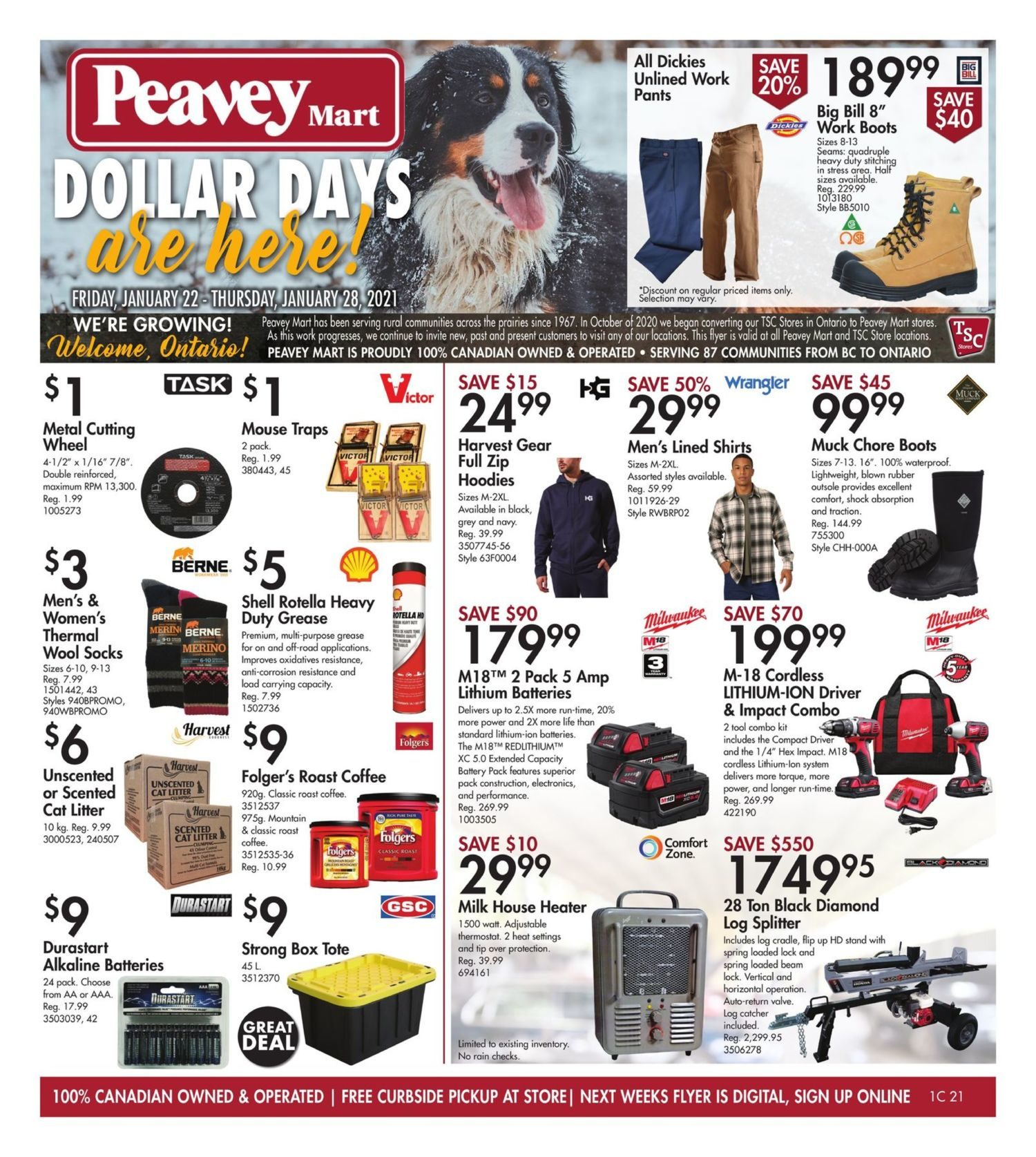 Peavey Mart - Weekly Deals - Dollar Days Are Here