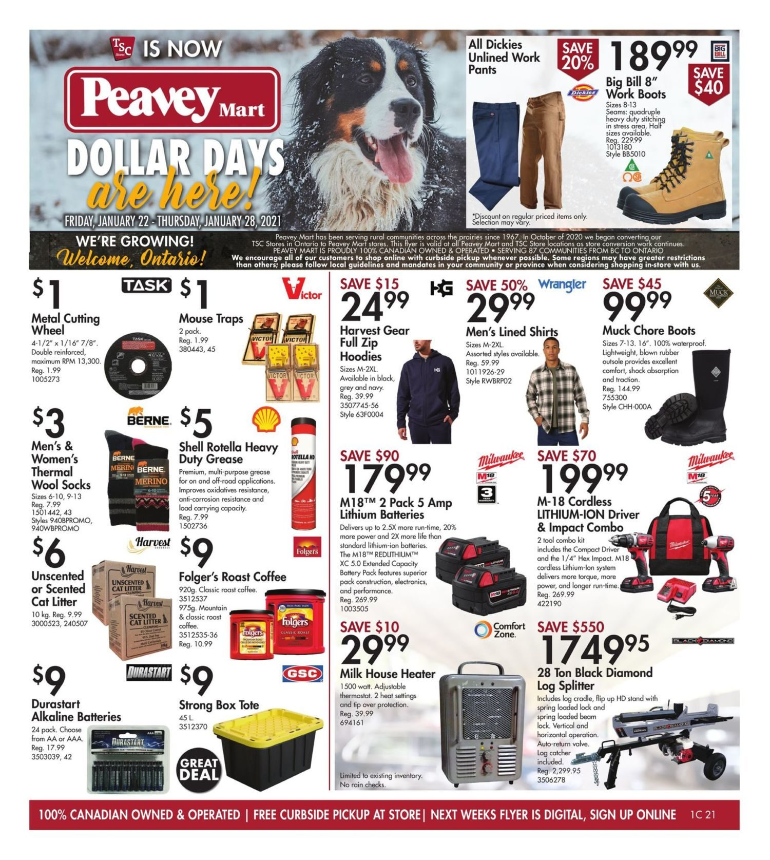 TSC Stores - Weekly Deals - Dollar Days Are Here