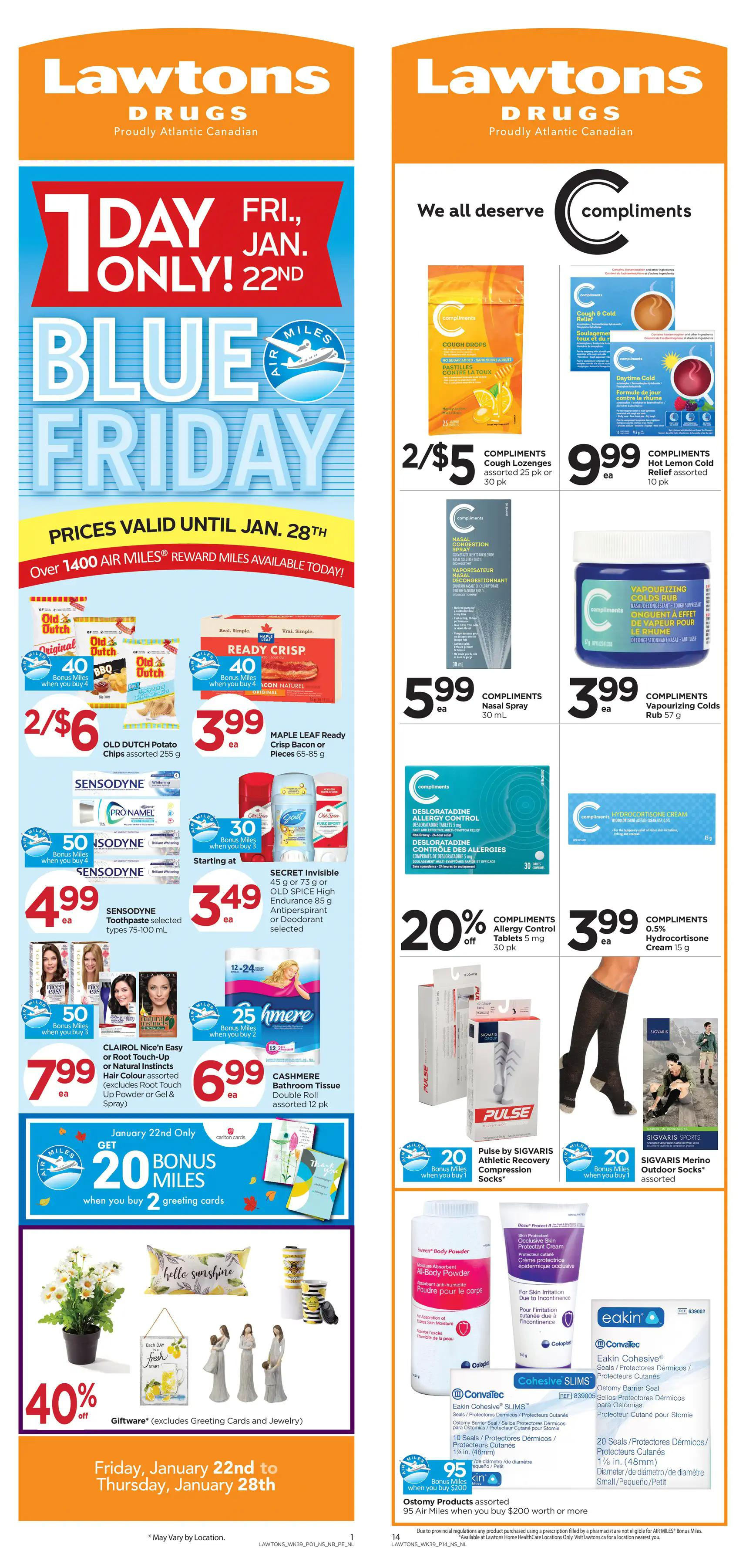 Lawtons Drugs - Weekly Flyer Specials - Page 1