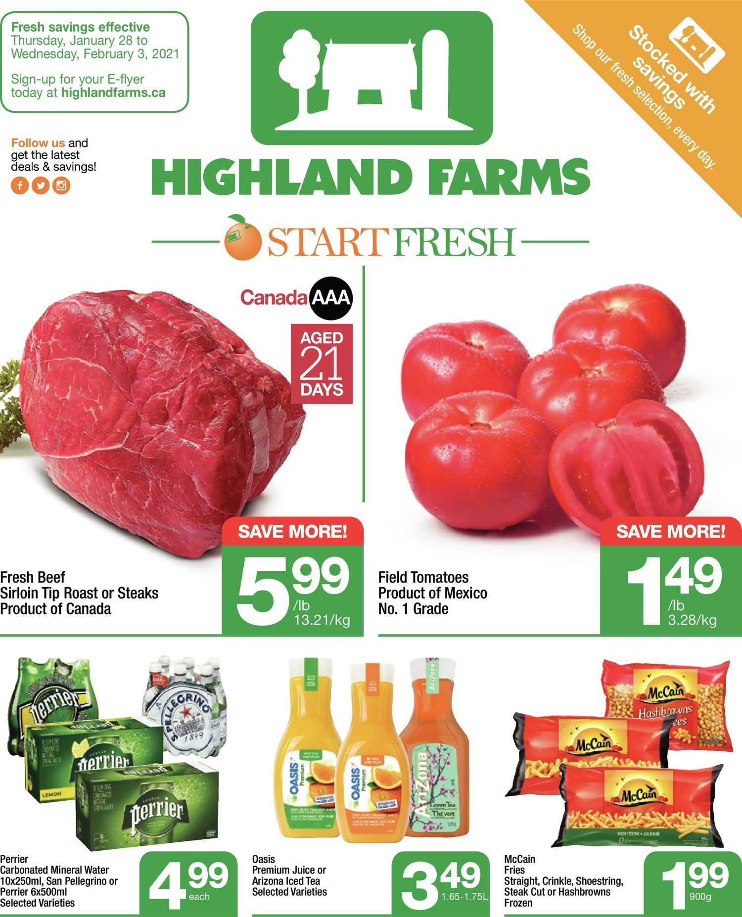 Highland Farms - Weekly Flyer Specials - Start Fresh