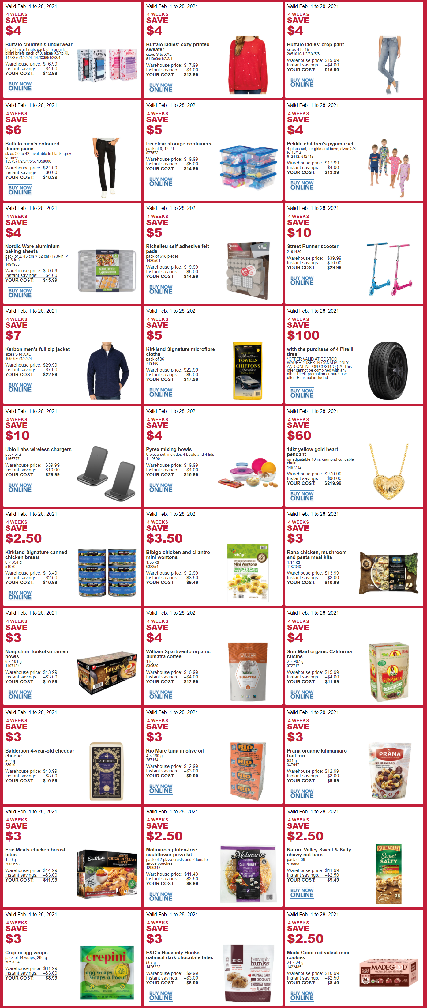 Costco - Monthly Savings - Page 1