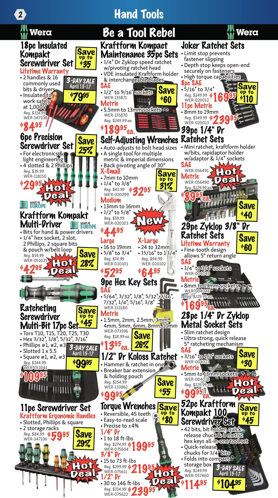KMS Tools - Hand Tools, Air Tools & Compressor Sale - Page 2