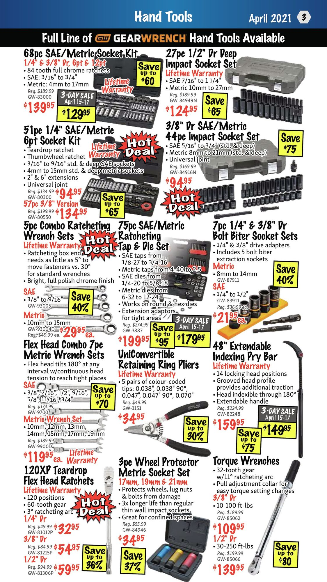 KMS Tools - Hand Tools, Air Tools & Compressor Sale - Page 3