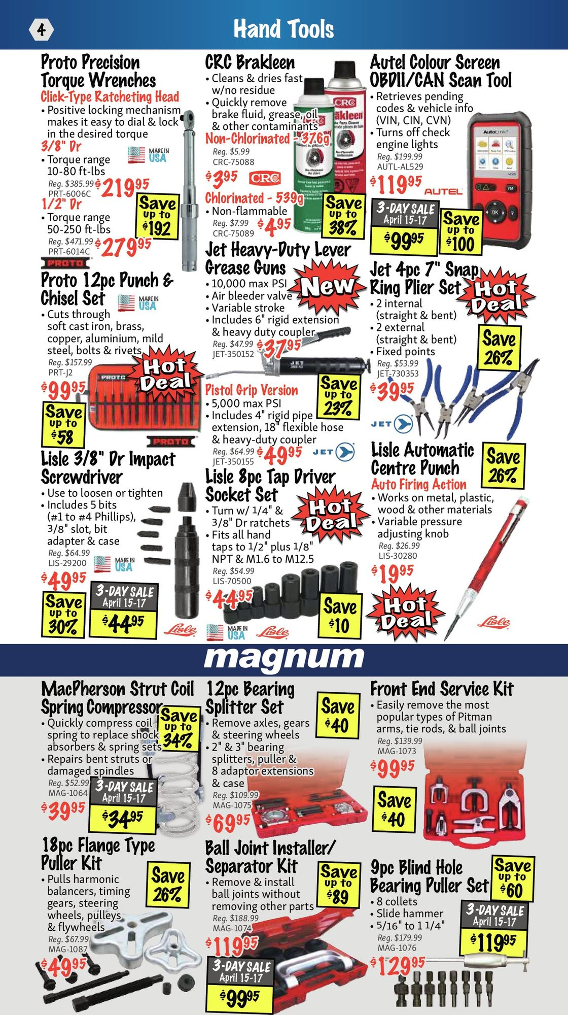 KMS Tools - Hand Tools, Air Tools & Compressor Sale - Page 4
