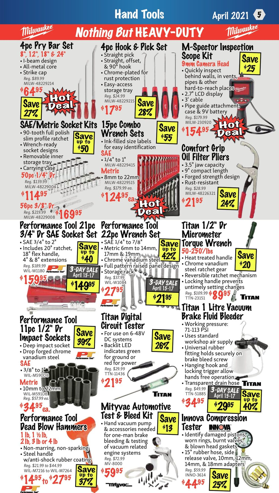 KMS Tools - Hand Tools, Air Tools & Compressor Sale - Page 5