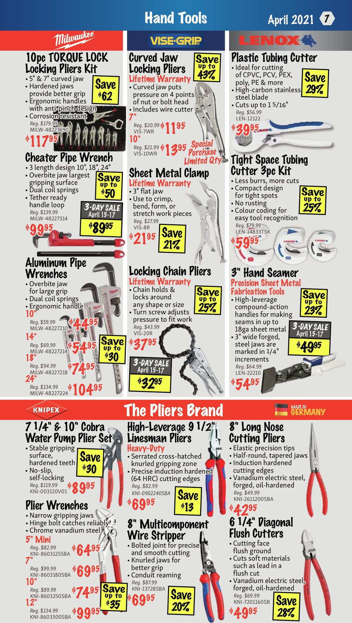 KMS Tools - Hand Tools, Air Tools & Compressor Sale - Page 7