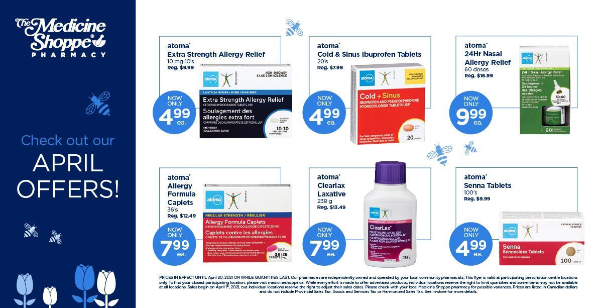 Medicine Shoppe Canada - Monthly Savings