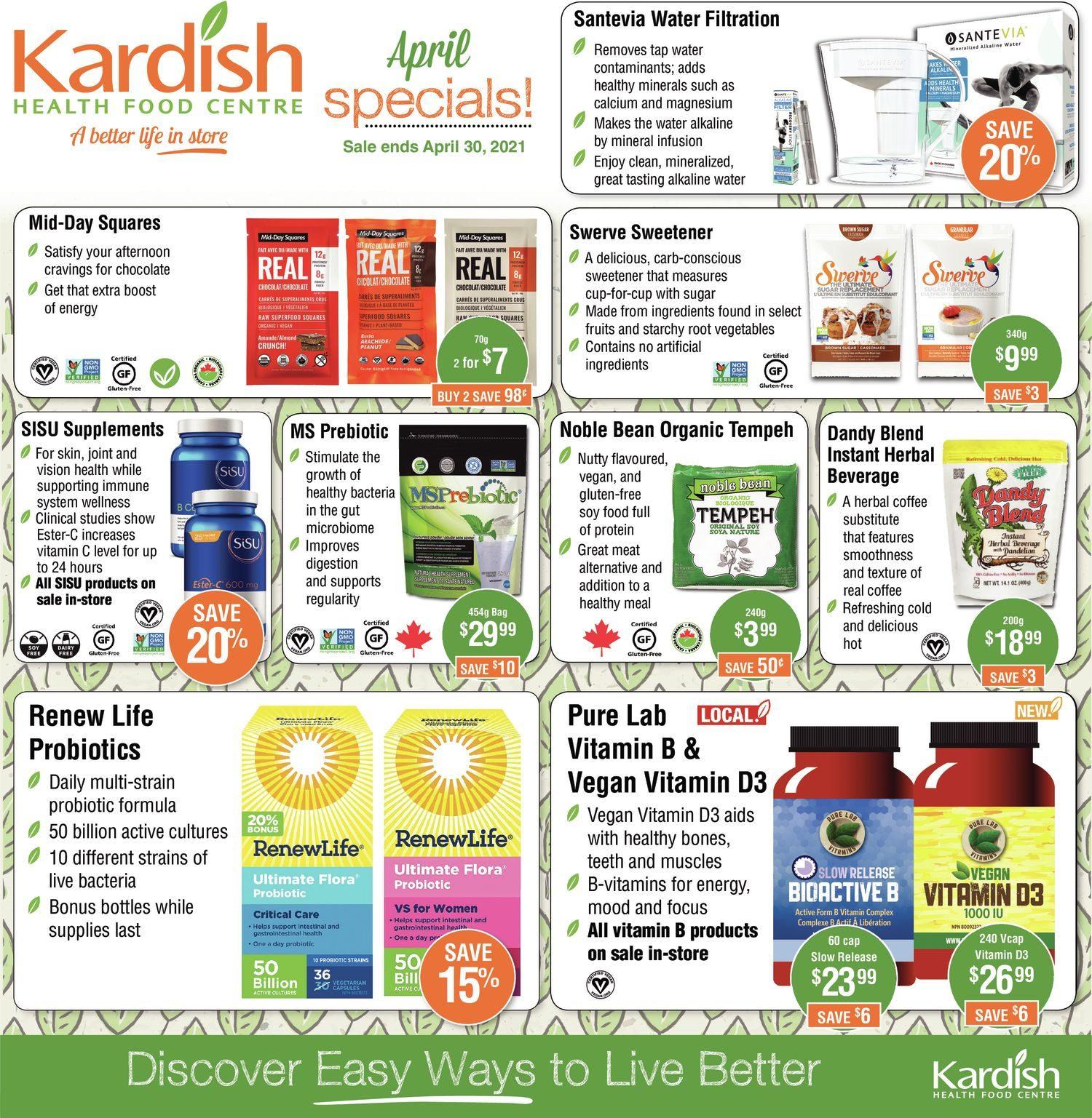 Kardish - April Specials