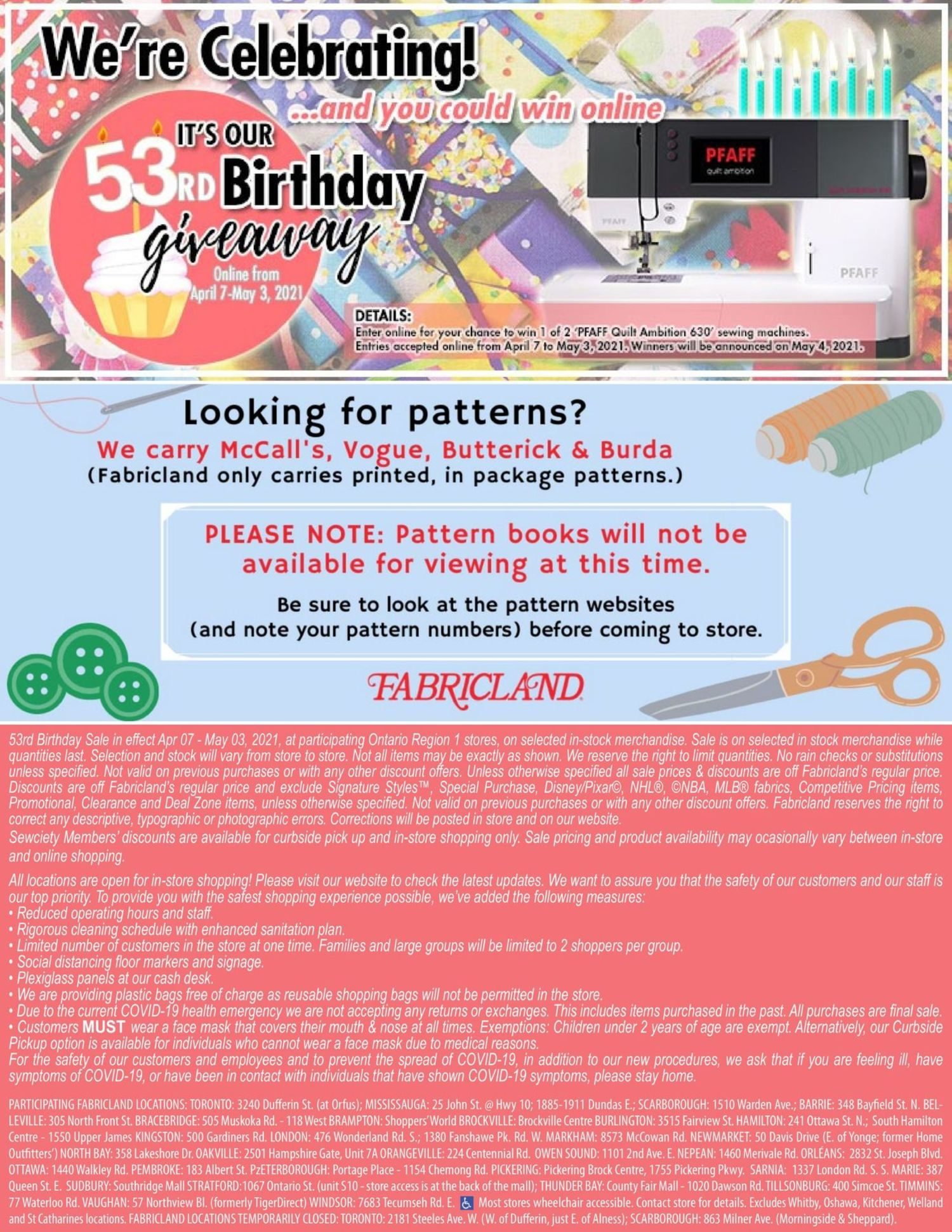 Fabricland - Monthly Offers - 53rd Birthday Sale - Page 23