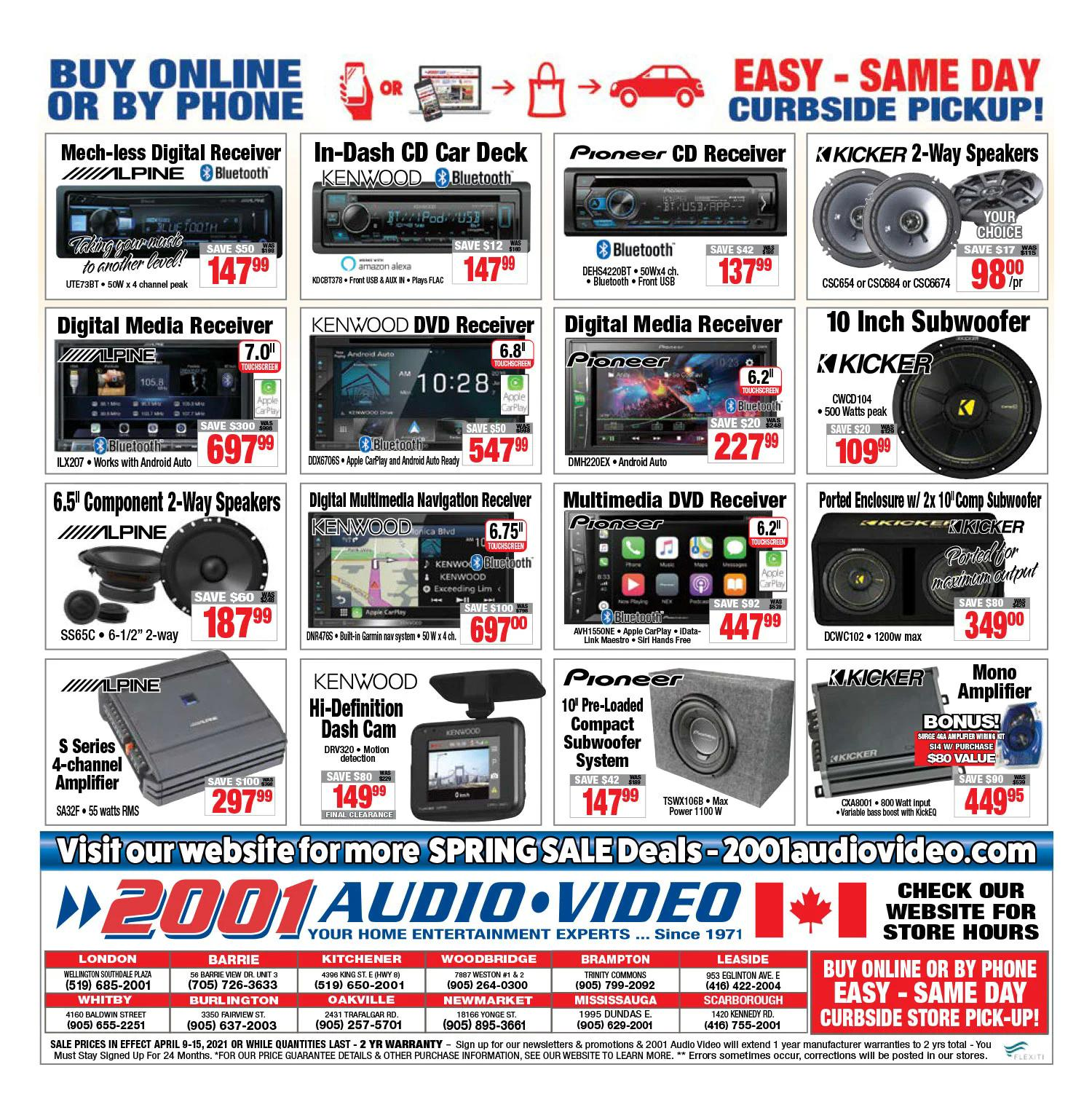 2001 Audio Video - Weekly Flyer Specials - Page 14