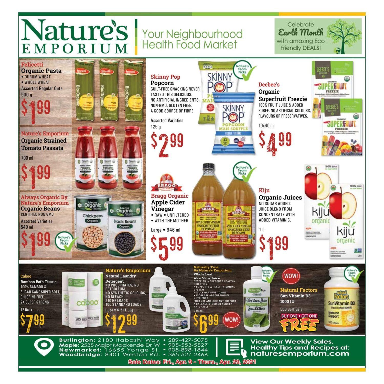 Nature's Emporium - Monthly Specials