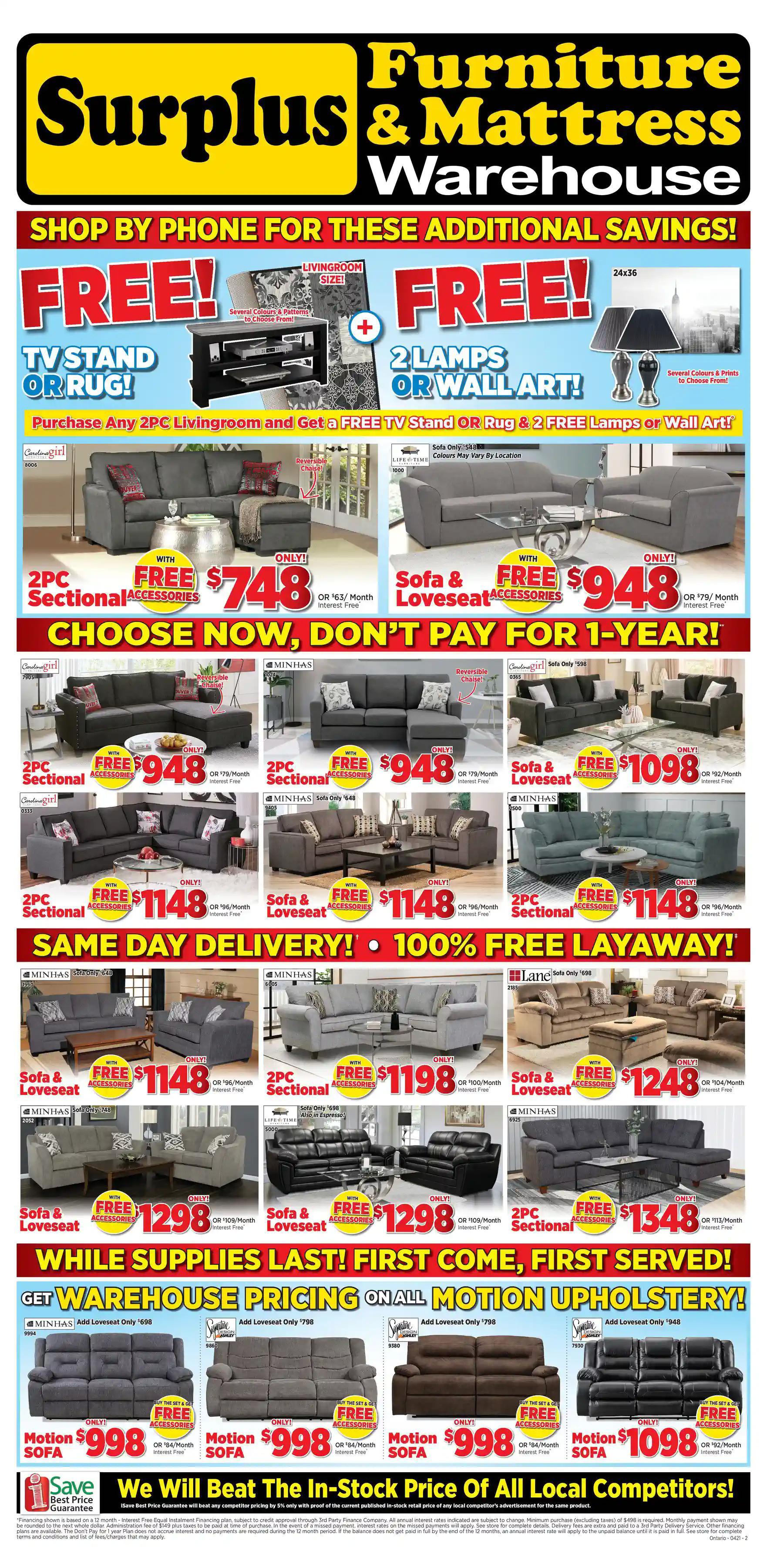 Surplus Furniture & Mattress Warehouse - 3 Weeks of Savings