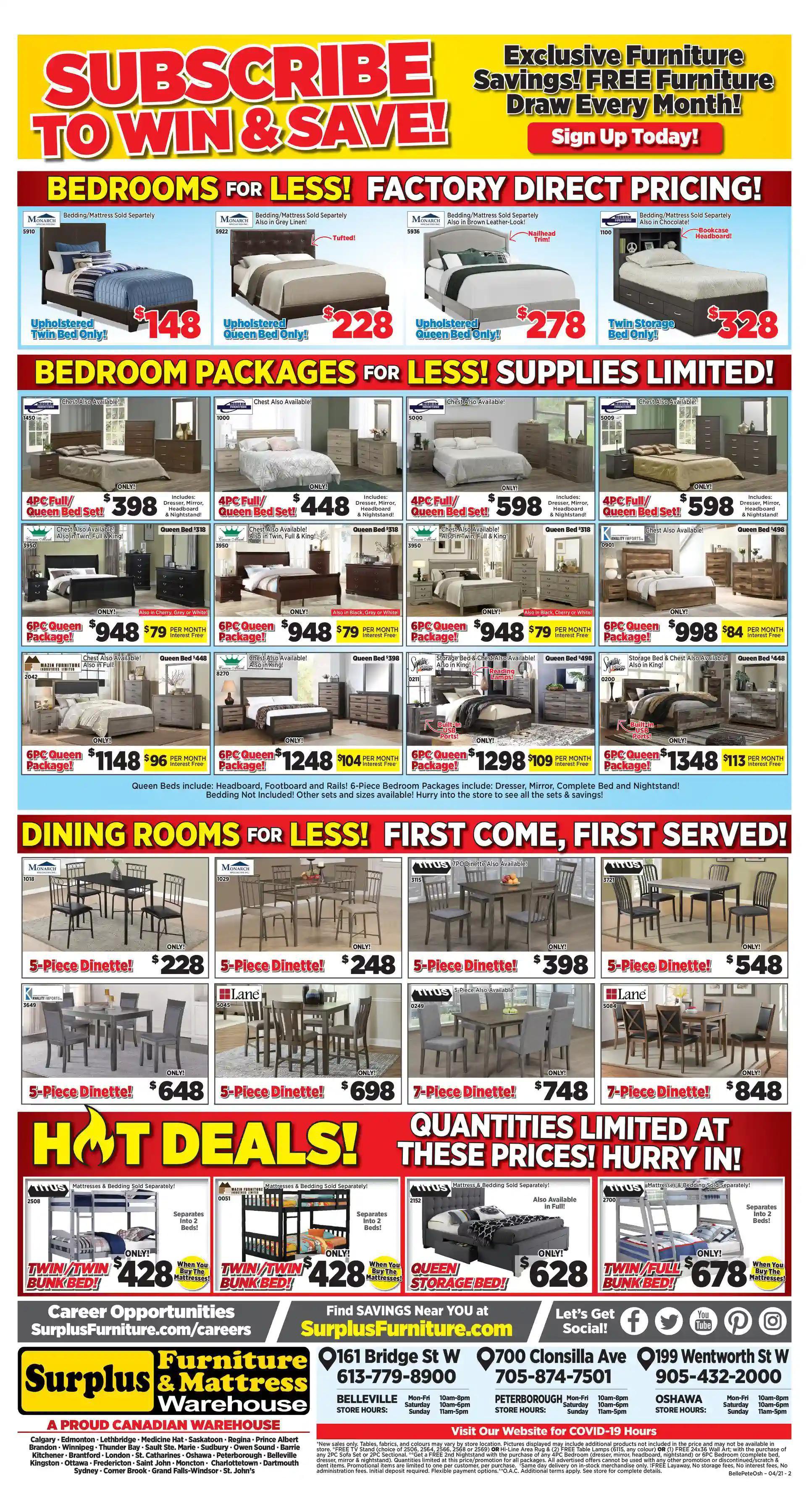Surplus Furniture & Mattress Warehouse - 3 Weeks of Savings - Page 3