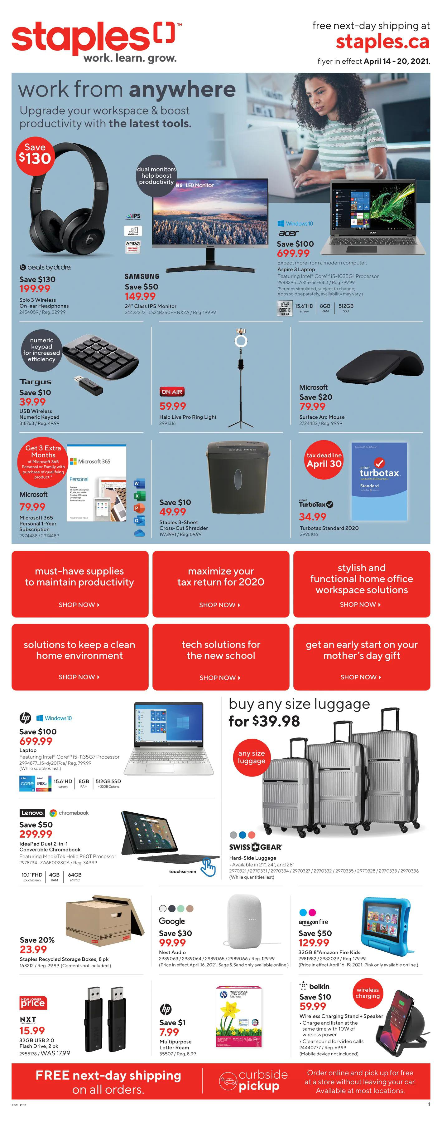Staples - Weekly Flyer Specials