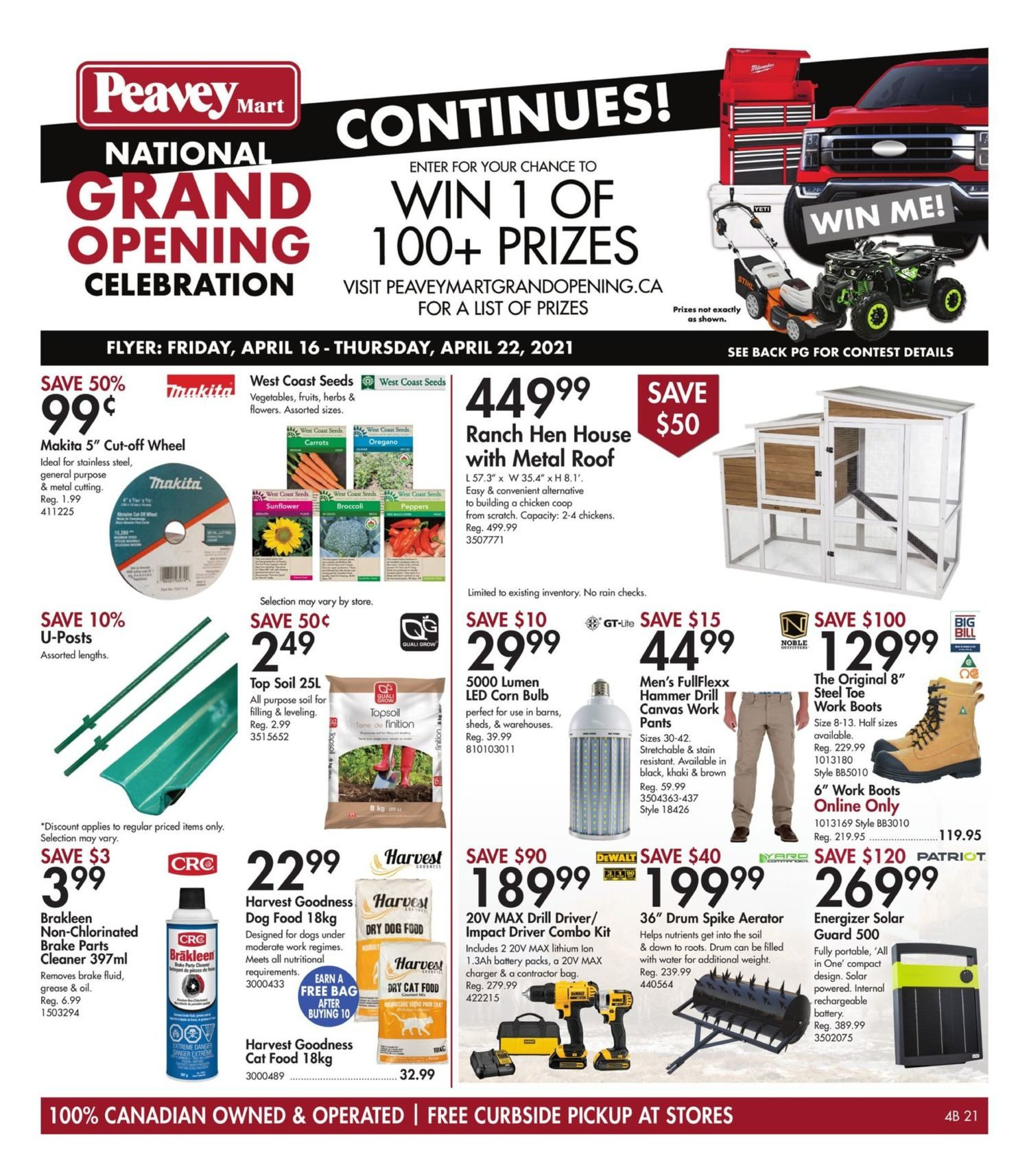 Peavey Mart - Weekly Flyer Specials - National Grand Opening Celebration