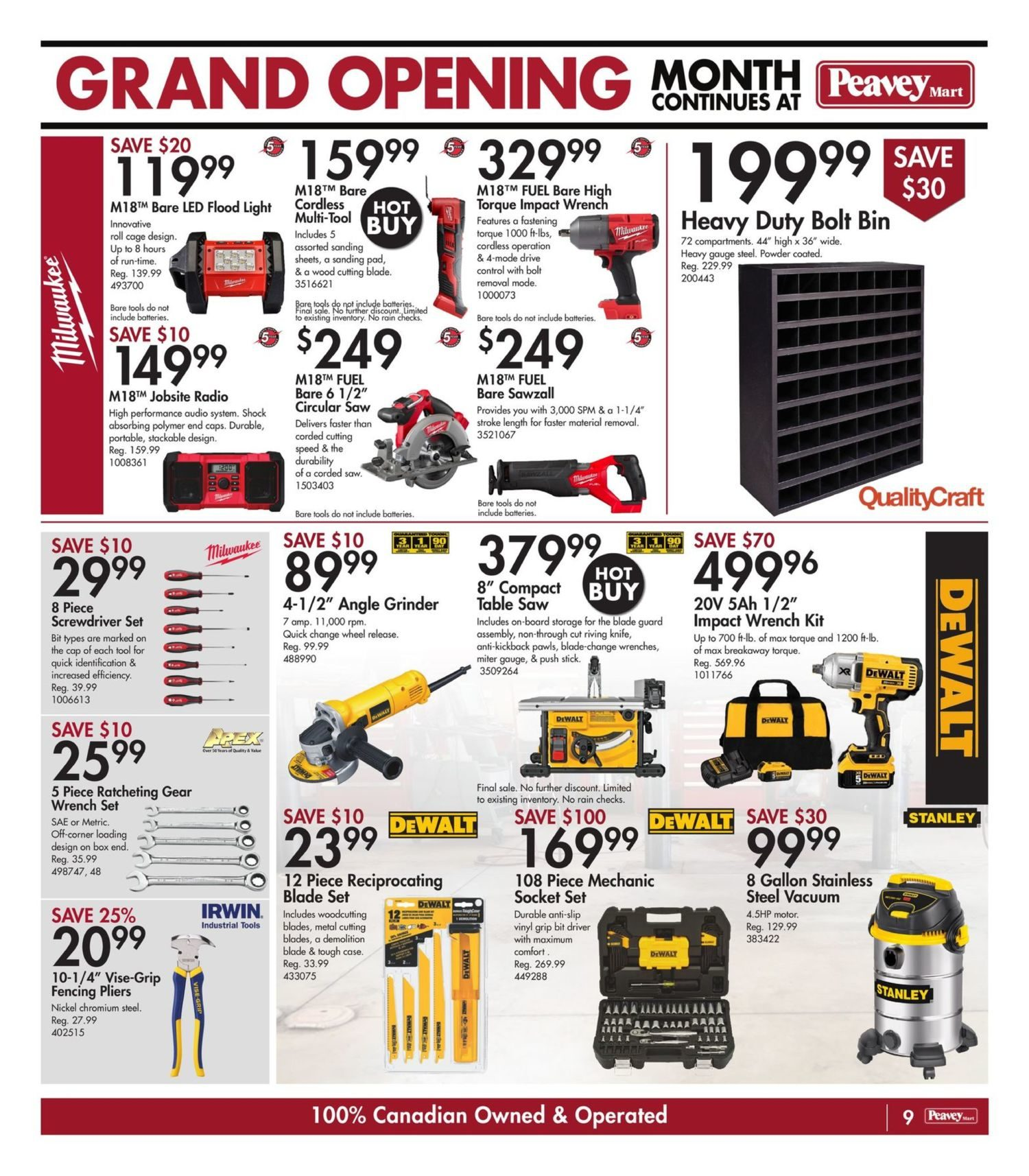 Peavey Mart - Weekly Flyer Specials - National Grand Opening Celebration - Page 12