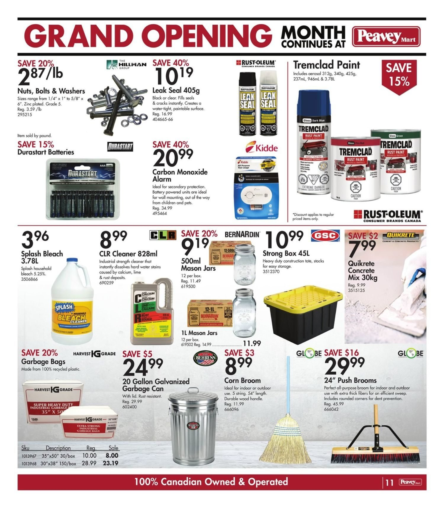 Peavey Mart - Weekly Flyer Specials - National Grand Opening Celebration - Page 14