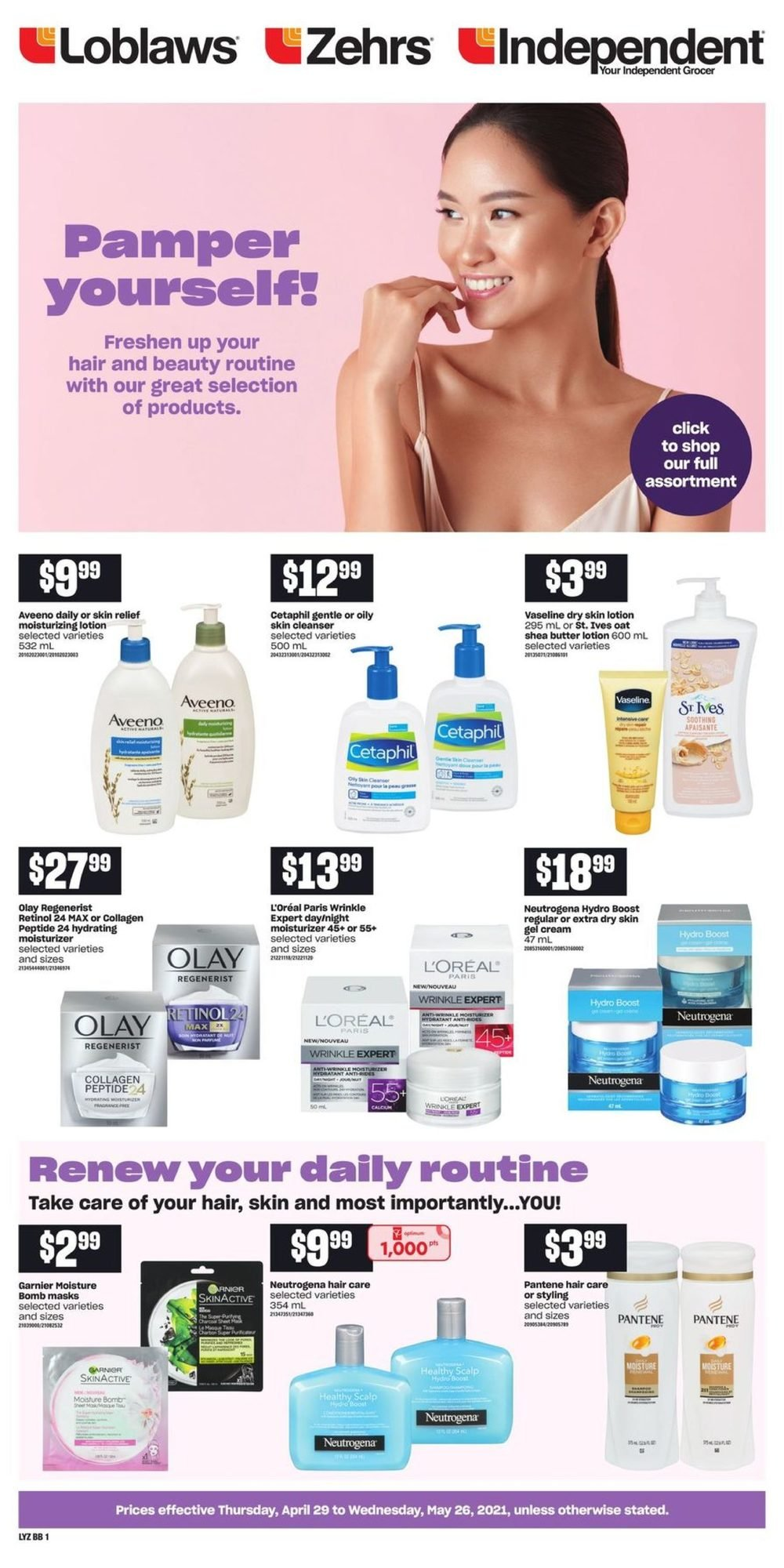 Loblaws - Beauty Book - Pamper Yourself!