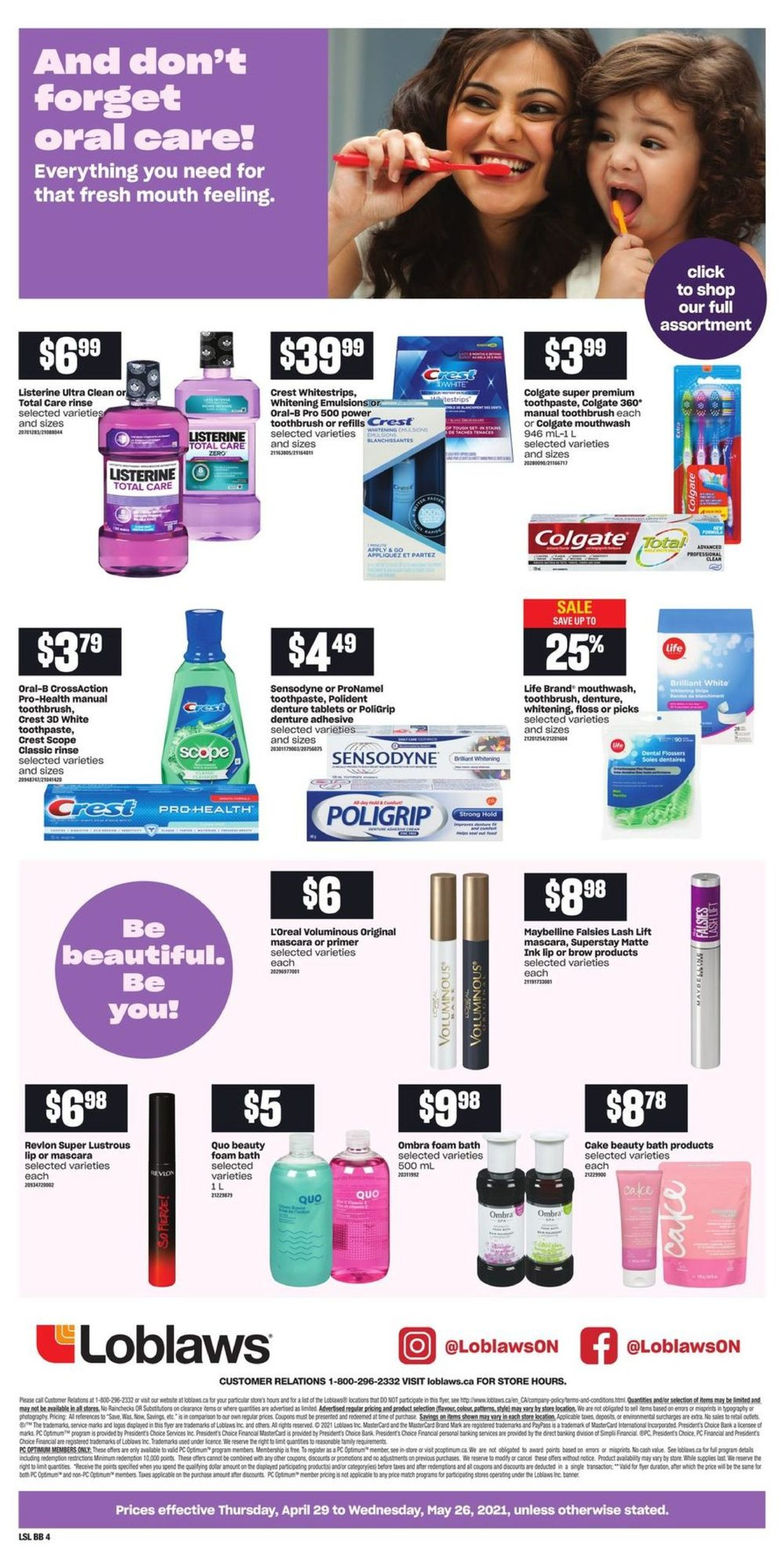 Loblaws - Beauty Book - Pamper Yourself! - Page 4