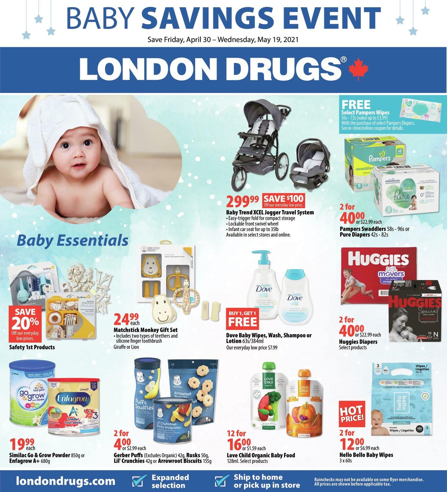 London Drugs - Baby Savings Event