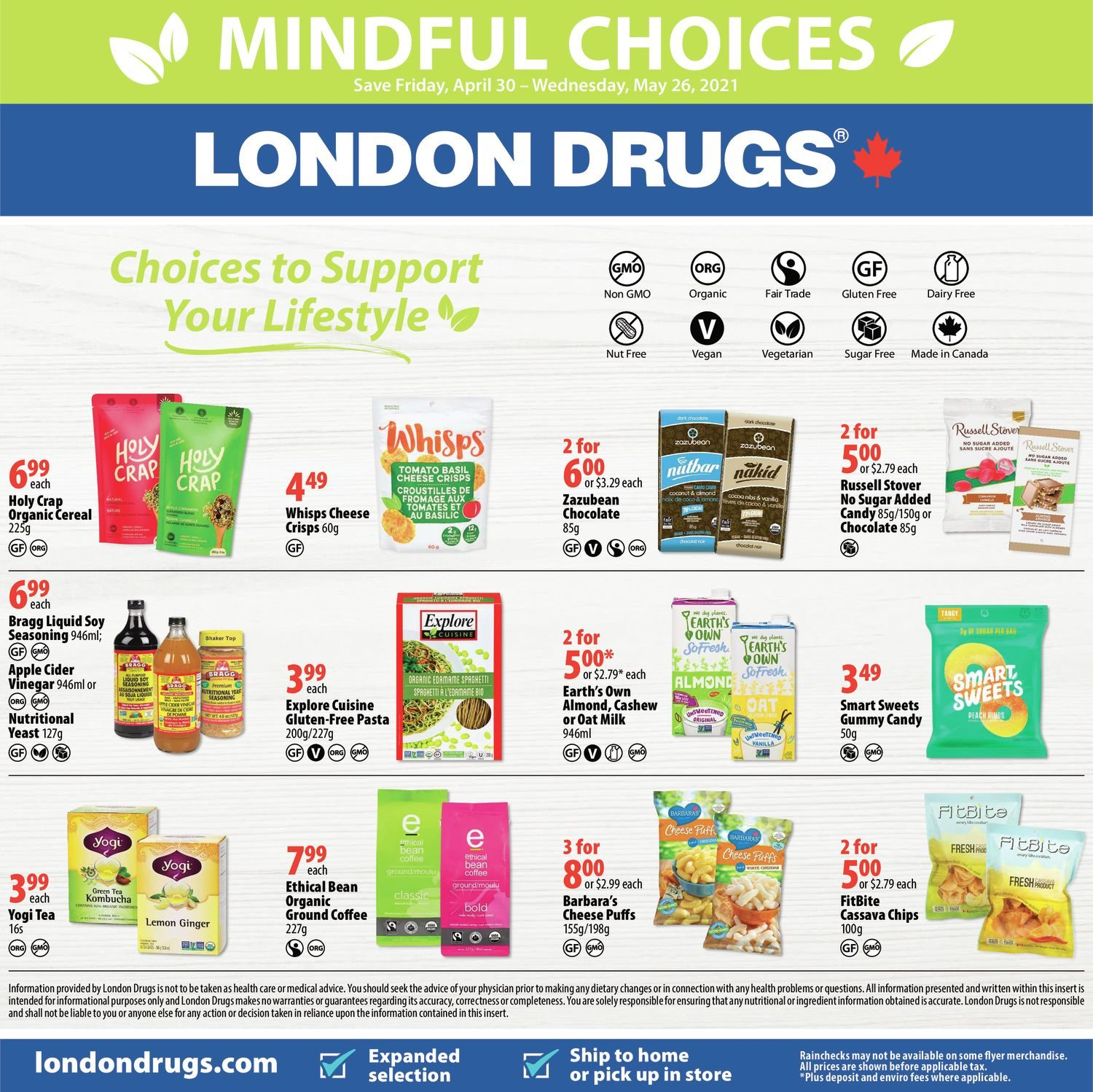 London Drugs - Mindful Choices - Choices To Support Your Lifestyle