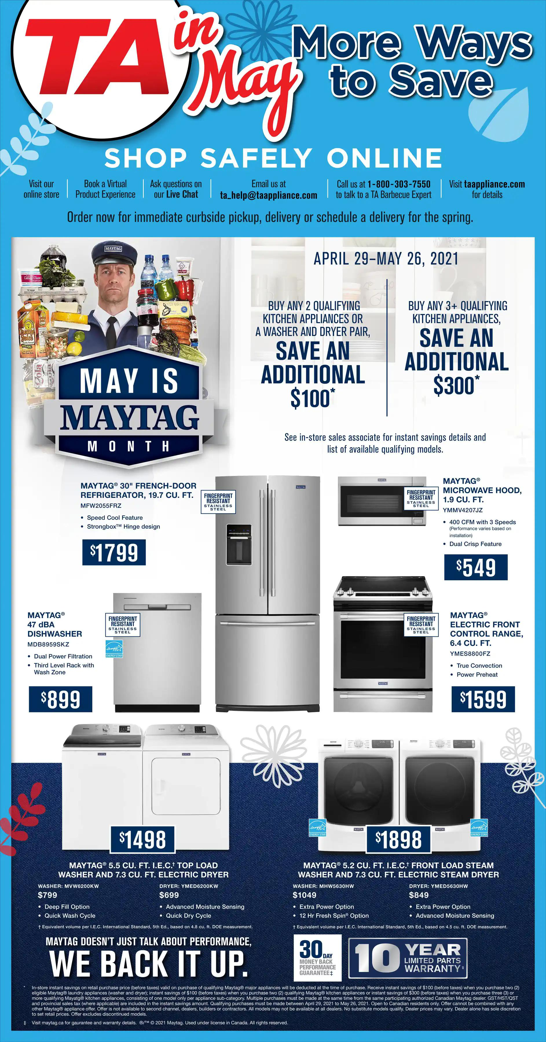 TA Appliance Flyer - More Ways to  Save