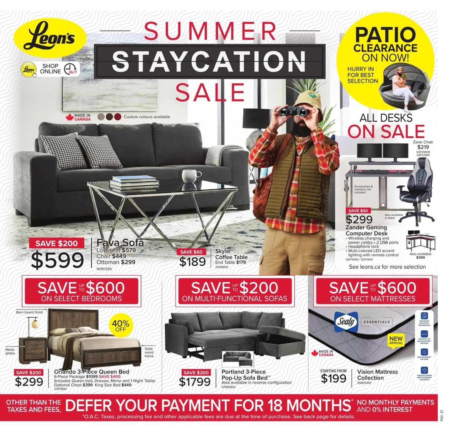 Leon's - Summer Staycation Sale